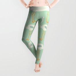 Flamingo Mint Pattern 004 Leggings
