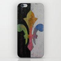 fleur de lis iPhone & iPod Skins featuring Fleur de Lis by Michael Creese