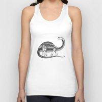 dinosaur Tank Tops featuring Dinosaur by Nicole Whelan