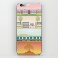 wes anderson iPhone & iPod Skins featuring A Wes Anderson Collection Print 2 by George Townley