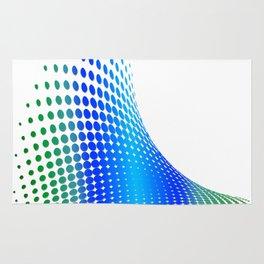 Glitch in the Dot Matrix (Blue) Rug