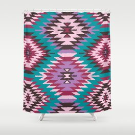 Navajo Dreams - Turquoise Shower Curtain