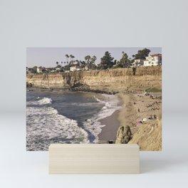 No Surf Beach at Sunset Cliffs in San Diego Mini Art Print