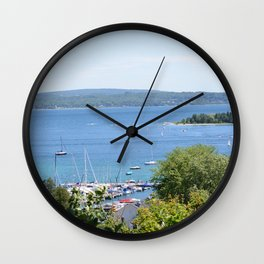 Harbr Springs Bay -View from Bluff (3) Wall Clock