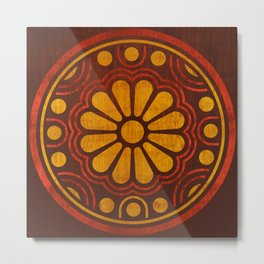 Kamon Alma – Brown Metal Print