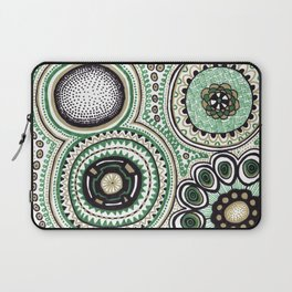 Green and Gold Rings Laptop Sleeve
