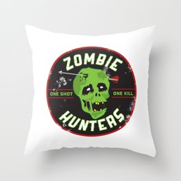 Zombie Hunters Throw Pillow