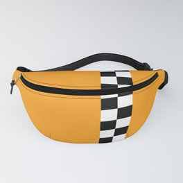 Retro Taxi Checkerboard Pattern Fanny Pack
