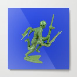 Mutated Green Army Man  Metal Print