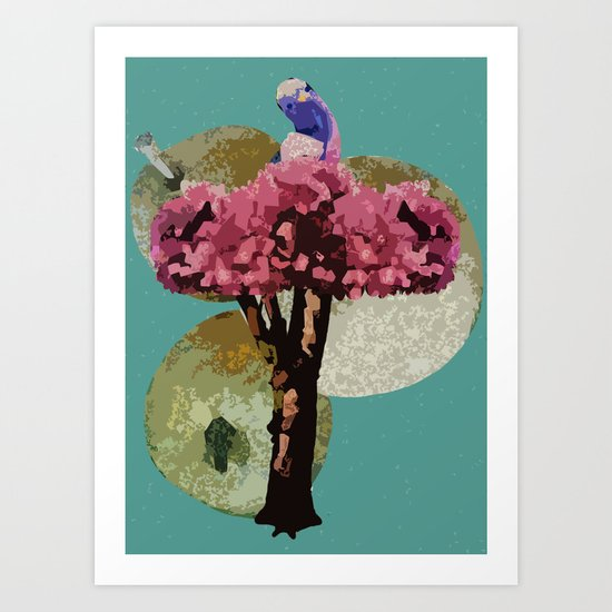 A Partridge in a Pear Tree - 12 Days of Christmas Series Art Print