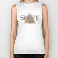 skate Biker Tanks featuring SKATE by Novus.