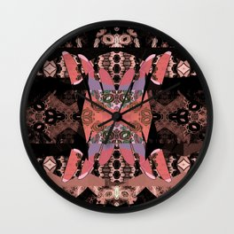 Tibetan Neo Shamanic Neotraditional Meditation Tapestry Wall Clock