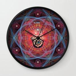 Hamsa - CHAI - Sacred Geometry Wall Clock
