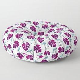 flamingo leaf patttern blue Floor Pillow