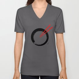 Enso in rice bowl Unisex V-Neck