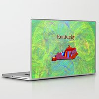 kentucky Laptop & iPad Skins featuring Kentucky Map by Roger Wedegis