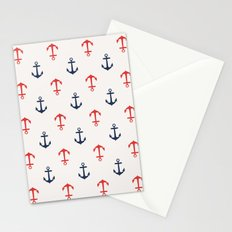 Nautical anchor pattern Stationery Cards