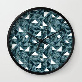 Forest green tagram triangle mix Wall Clock