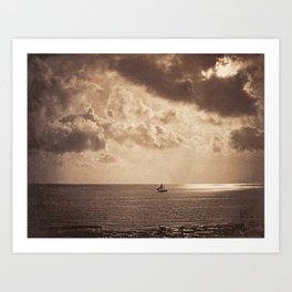Gustave Le Gray,  Brig upon the Water, 1856 Art Print