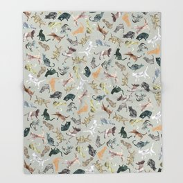 Marble Cats Throw Blanket
