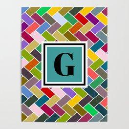 G Monogram Poster