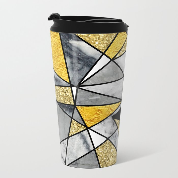 FRAGMENT SKULL Metal Travel Mug