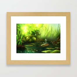 Rowing Down the River Framed Art Print