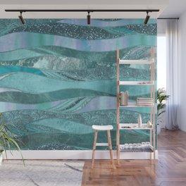 Precious Aqua And Turquoise Glamour Wall Mural