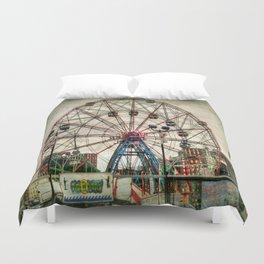 Coney Island Wonder Wheel Duvet Cover