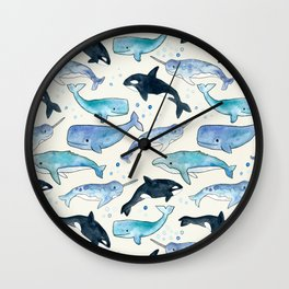 Whales, Orcas & Narwhals Wall Clock