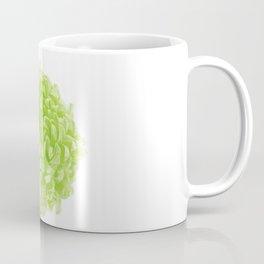 Green Pop Art Inspired Flower Coffee Mug