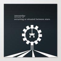 interstellar Canvas Prints featuring Interstellar by Duck Cartel