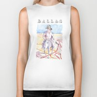dallas Biker Tanks featuring Dallas, Texas by Howard Coale