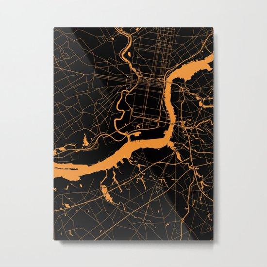 Philadelphia - The Orange and the Black Metal Print