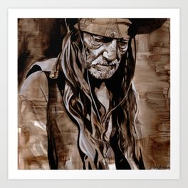 Sepia Willie Art Print