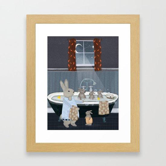 bunny bath time by bribuckley