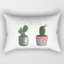 Cactu + Cacti = Cactus Rectangular Pillow