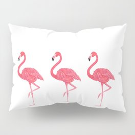 Flamingo tropical dance Pillow Sham