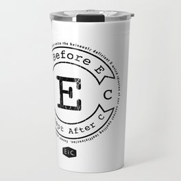 I Before E Except After C - Rule Exceptions - Funny Travel Mug