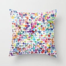Colorful Paint Splats Throw Pillow