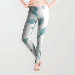 Blue and Green Fronds Leggings