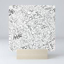 Love in different languages Mini Art Print