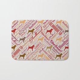 Bloodhound dog Word Art pattern Bath Mat