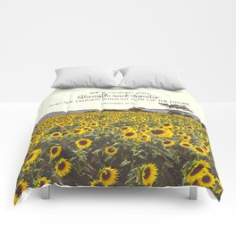 Proverbs and Sunflowers Comforters