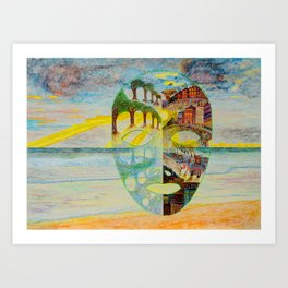 Looking Through the Mask Art Print