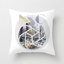 TRENDY DESIGN New York City | Geometric Mix No 4 Throw Pillow