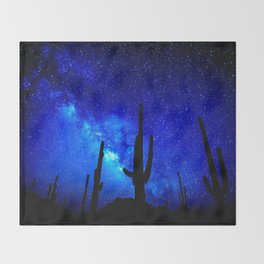 The Milky Way Blue Throw Blanket