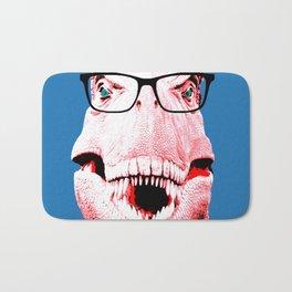 Geek T-Rex with Blue Background Bath Mat