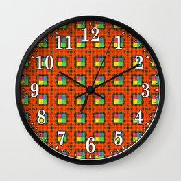Brouhaha Pattern Wall Clock