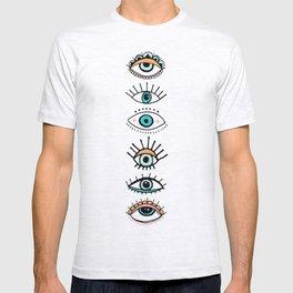 eye illustration print T-shirt